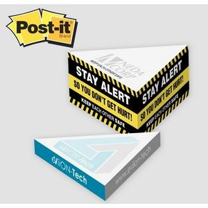 Post-it� Notes Custom Printed Slim Triangle Cube Note Pad (3�